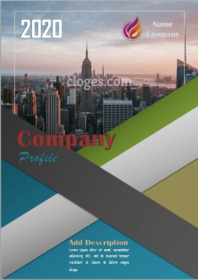 Blue Company Profile Free Word Template