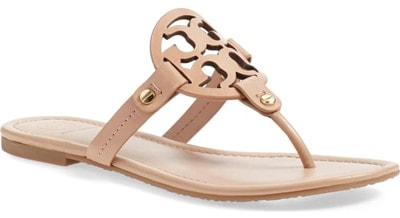 best women's sandals - Tory Burch 'Miller' Flip Flop | 40plusstyle.com