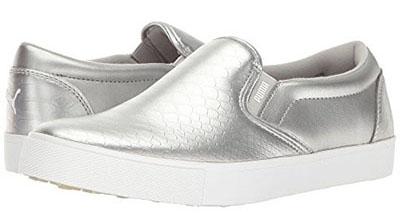 puma slip-pn silver shoes   40plusstyle.com