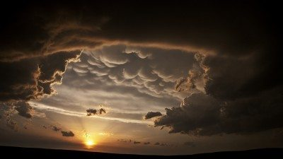 Image: Storm clouds looking like bubbles