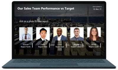 Sales Team Performance vs Target Power BI