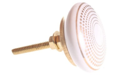 28812 400x240 - Kapinupp valge kuldsete täppidega 4,1cm
