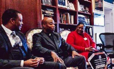 White House Hosts Dialogues with Caribbean and African Faith-based Leaders Rev. Dr. Barry Black, Dr. Agorum Dike, Rev. Dr. Coretta Mathie