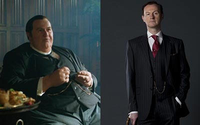 Mycroft Holmes in The Abominable Bride (left) and Mycroft Holmes in previous episodes (right)