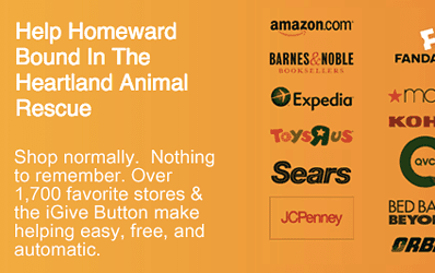 Online Shopping + iGive = Donations for Homeward Bound In The Heartland Animal R…