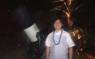 ハワイの上のオリオン星