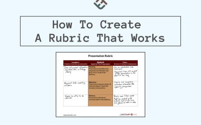 How Single-Point Rubrics Can Improve Student Work