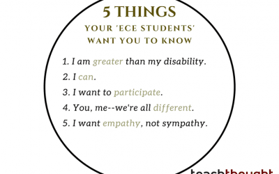 I Am More Than My Disability: 5 Things Your 'ECE Students' Want You To Know