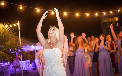 Wedding Lighting at Making Memories House in Ocean Isle Beach