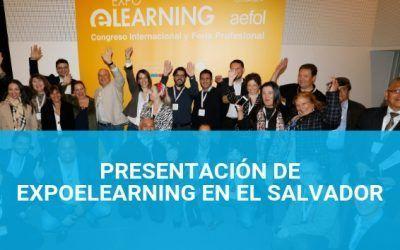 Presentación de EXPOELEARNING en El Salvador el 22 de mayo