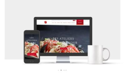 Conception site internet Les Ateliers Pomme d'Amour : atelier de cuisine vegan à Dijon
