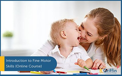 mother looking at child text introduction to fine motor skills