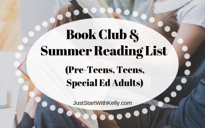 Book Club/Summer Reading List for Pre-teens, Teens & Special Ed Adults