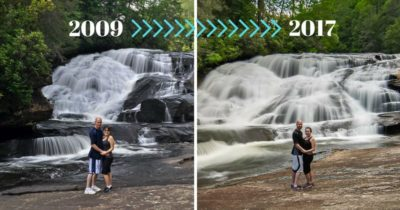 Getting Nostalgic at Triple Falls in North Carolina