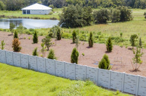 Permacast precast concrete wall - Permafence