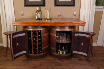 Wine Barrel Bar Island Set