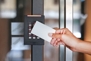 Key card access control system