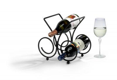 Spectrum Diversified 48010 Bordeaux Wine Rack, 3-Bottle, Black