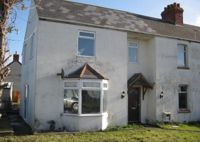 Front elevation prior to construction of single and two storey extensions creating ancillary accommodation