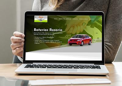 Sitio web Baterías Rosario