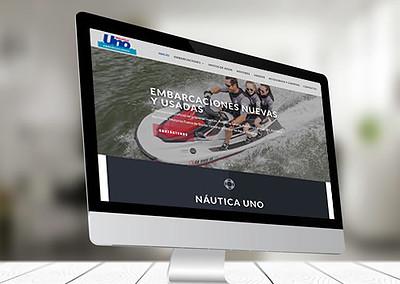 Sitio web Náutica Uno