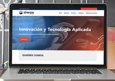Sitio web Sharpa