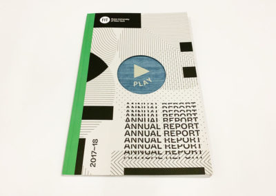 An example of an offset printed annual report printed for the Fashion Institute of Technology