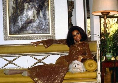 Diana Ross and her maltese