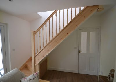 New stairs to bedroom in roofspace conversion