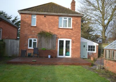 External view prior to construction of single storey kitchen and dining room extension