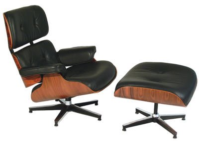 Lounge Chair and Ottoman by Charles Eames (1955)