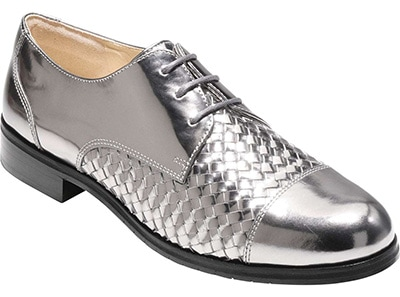 cole haan silver shoes | 40plusstyle.com