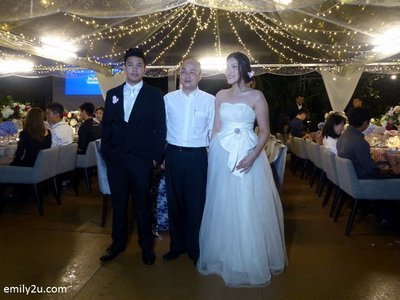 5. the mock bridal couple with The Haven's General Manager, Mr. Jimmy Yeo