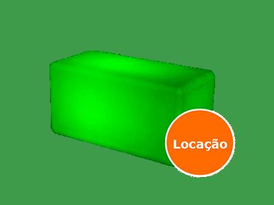 Móveis Led - Puffs, Mesas, Esferas, Poltronas, Balcões 8 puff duplo led locacao 400x300 2