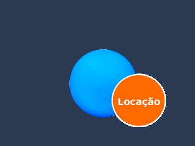 Esferas de led - 35cm - Aérea ou Chão - LOCAÇÃO 1