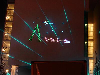 kerst projectie