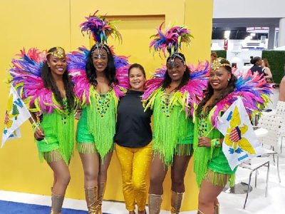 The Caribbean Ritual Dancers were a hit at Seatrade in Miami.