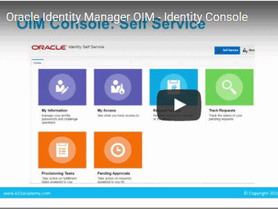 [Video]: Oracle Identity Manager (OIM) Consoles - Identity, Sysadmin, WebLogic & EM