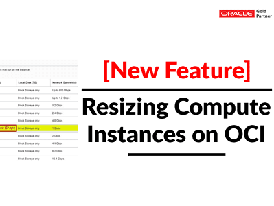 New Feature: Resizing Compute Instance (VM) In OCI