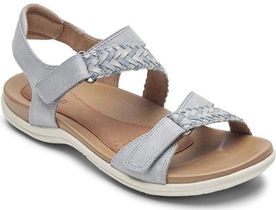 Best womens sandals - Rockport Cobb Hill 'Rubey' Woven Strap Sandal | 40plusstyle.com