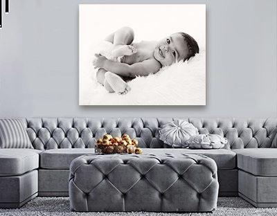 newborn wall portrait