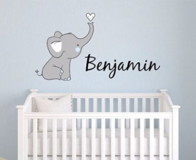 Elephant Custom Personalized Name Wall Decal Large