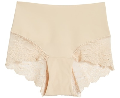 No show underwear - SPANX Undie-tectable lace hi-hipster panties | 40plusstyle.com