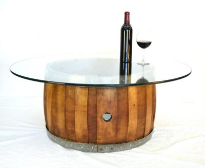 NAPA - Zebra - Wine Barrel Coffee Table with Offset Staves - 100% Recycled