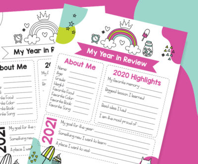 Year in Review Printable