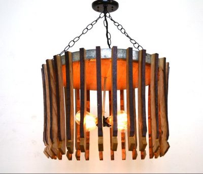- Wine Barrel Chandelier - 100% RECYCLED