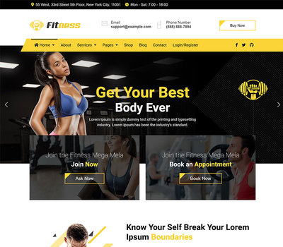 jd fitness gym joomla template, JD Fitness