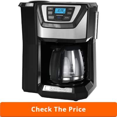 BLACK+DECKER 12-Cup Mill and Brew Coffeemaker, Black