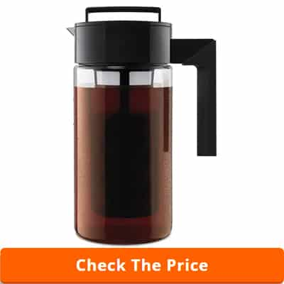 Takeya Patented Deluxe Cold Brew Iced Coffee Maker with Airtight Lid