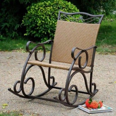 Wicker ResinSteel Porch Rocker